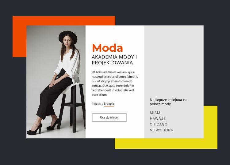 Akademia Mody i Projektowania Szablon Joomla