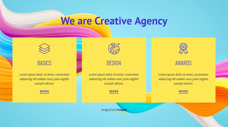 We are Creative Agency Web Page Designer