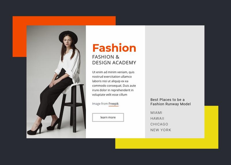 Fashion and Design Academy Web Page Designer