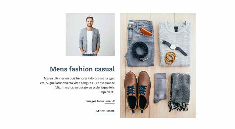 Mens Fashion Casual Website Template