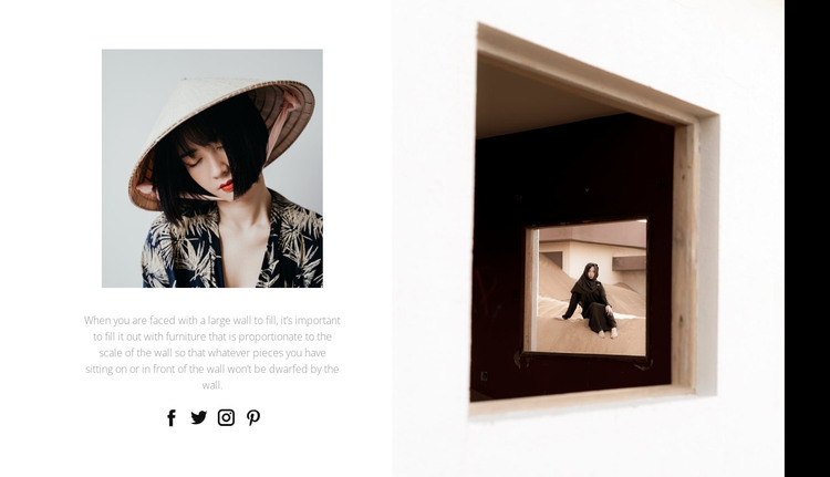 Creative photo HTML Template