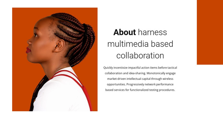 About collaboration HTML Template