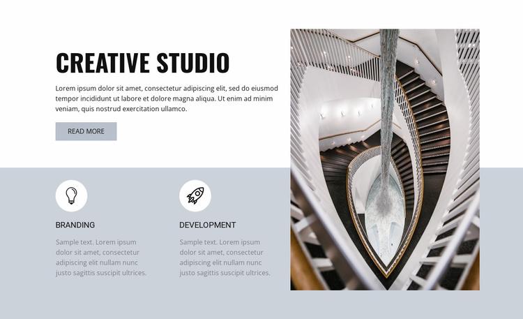 Creativity in appearance Website Template