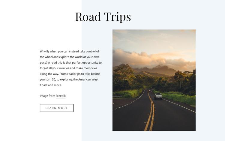 5 Road Travel Tips Joomla Template