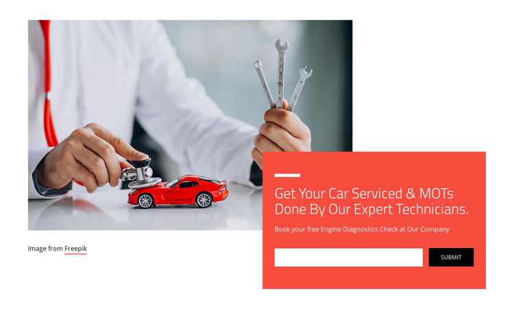 Car diagnostic tests One Page Template