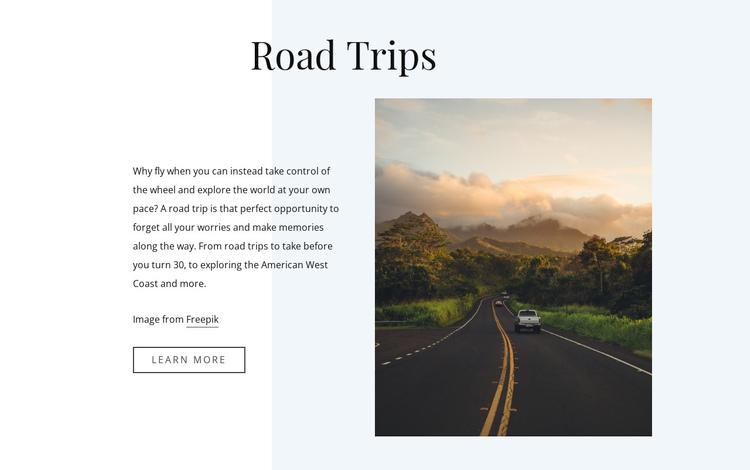 5 Road Travel Tips Website Builder Software