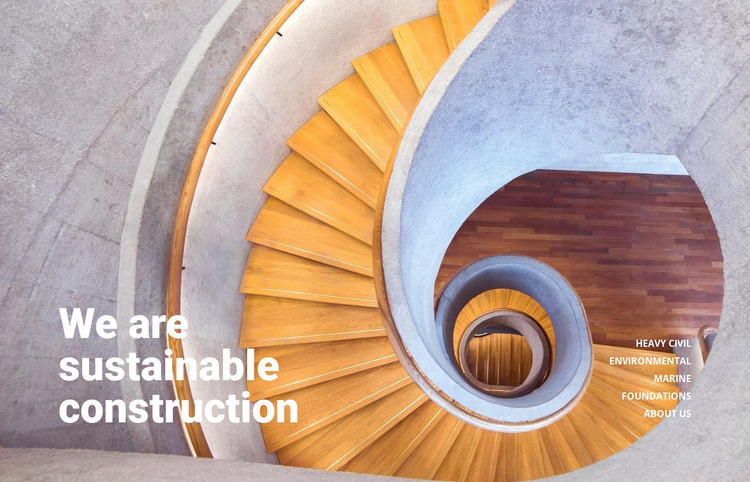 Sustainable construction samples Html Website Builder