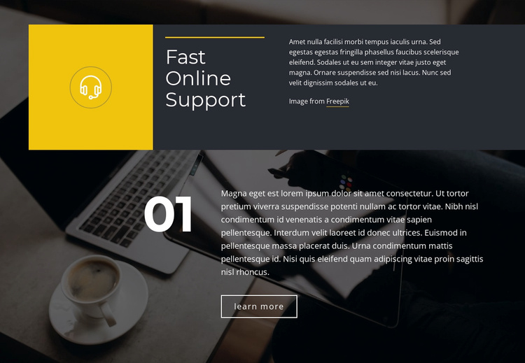 Fast Online Support Website Template