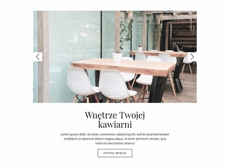 Wnętrze Twojej kawiarni Szablon Joomla