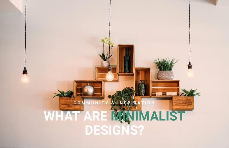 Minimalist design in interior Website Builder Software