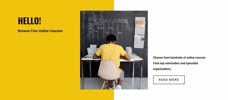 Find a teacher for you Website Template