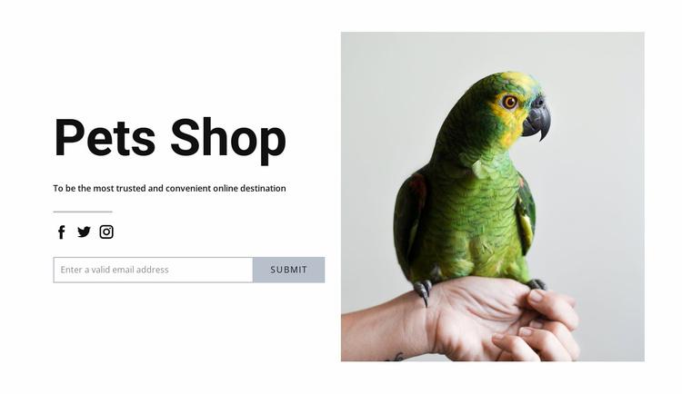 Bird food Website Template