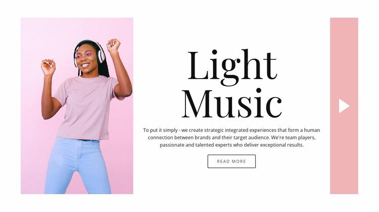 Light style in music WordPress Website Builder