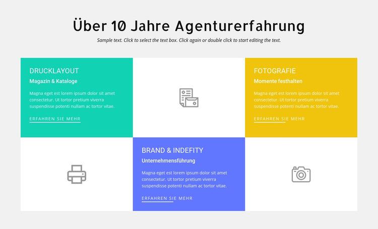 10 Jahre Designerfahrung Website-Vorlage