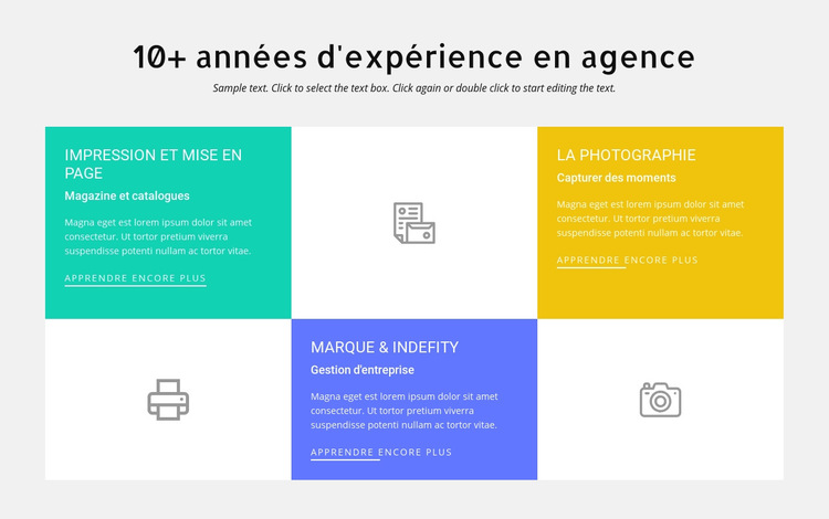 10 ans d'expérience en conception Modèle de site Web