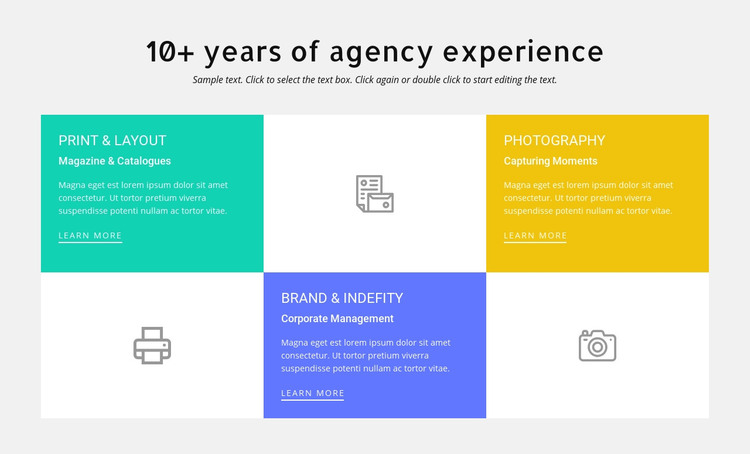 10 years of design experience Homepage Design