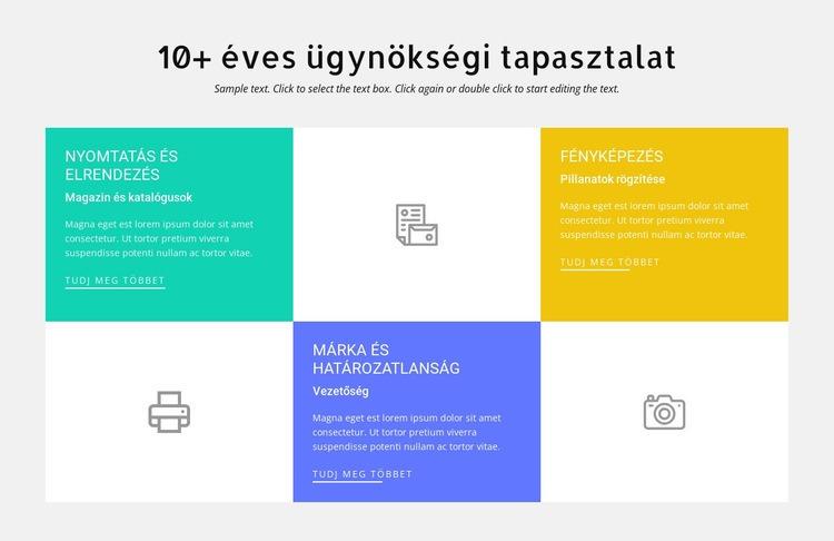 10 éves tervezési tapasztalat Weboldal sablon