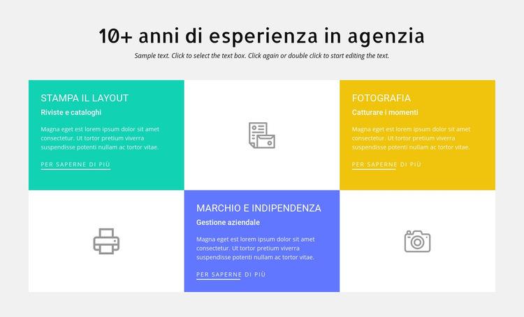 10 anni di esperienza nel design Modello di sito Web