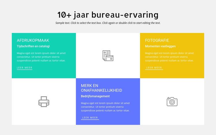 10 jaar ontwerpervaring Website sjabloon