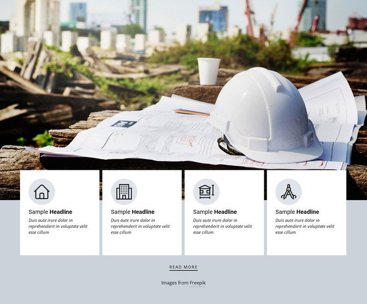 Uniqueness of architecture agency One Page Template