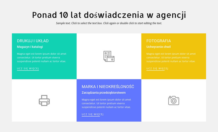 10 lat doświadczenia w projektowaniu Szablon witryny sieci Web