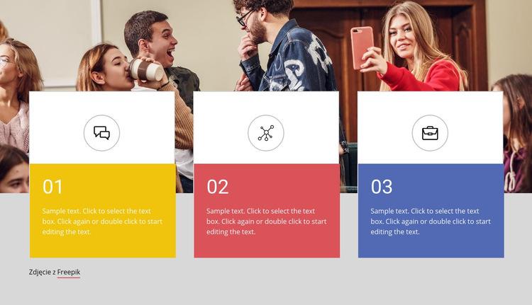 Kursy dla studentów Szablon witryny sieci Web
