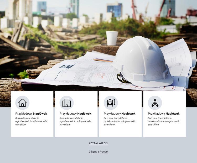 Usługi agencji architektonicznych Szablon witryny sieci Web