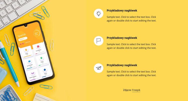 Kursy językowe online Szablon Joomla