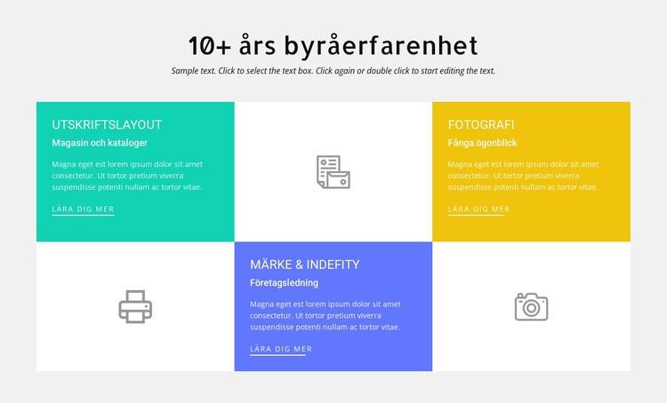 10 års designerfarenhet Webbplats mall