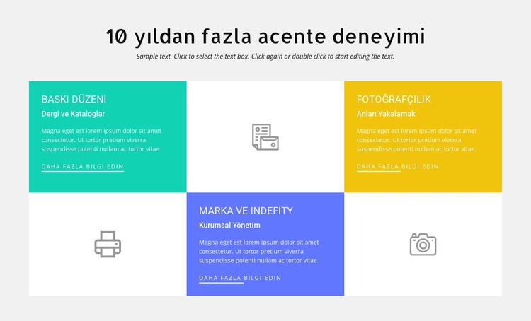 10 yıllık tasarım tecrübesi Web Sitesi Şablonu