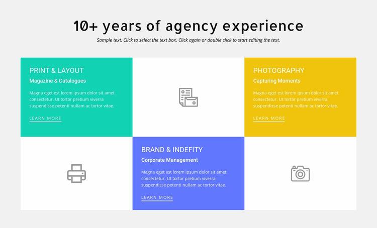 10 years of design experience Website Mockup