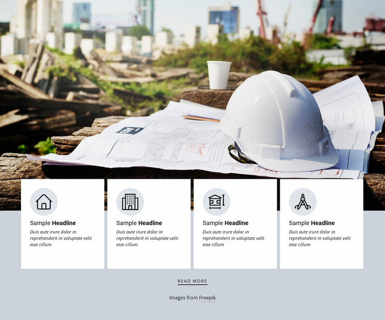 Uniqueness of architecture agency Website Mockup