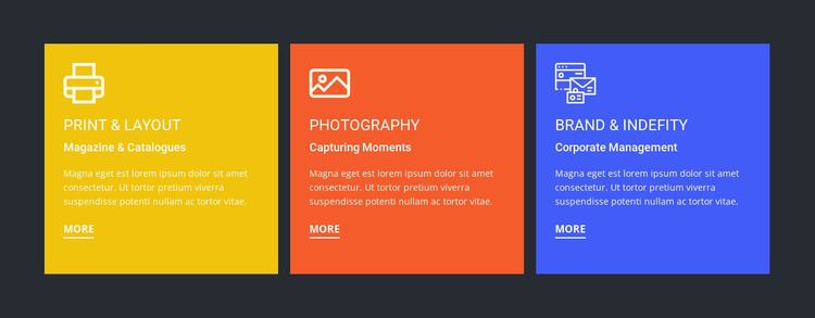 Products and services Website Template