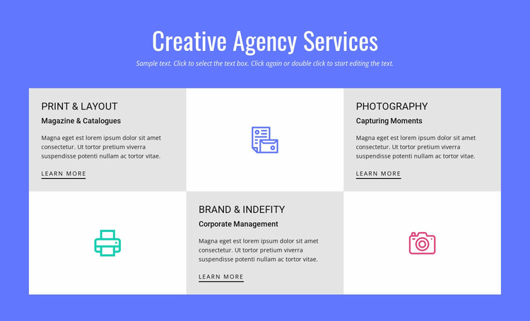 Creative Advertising Agency Services Website Template