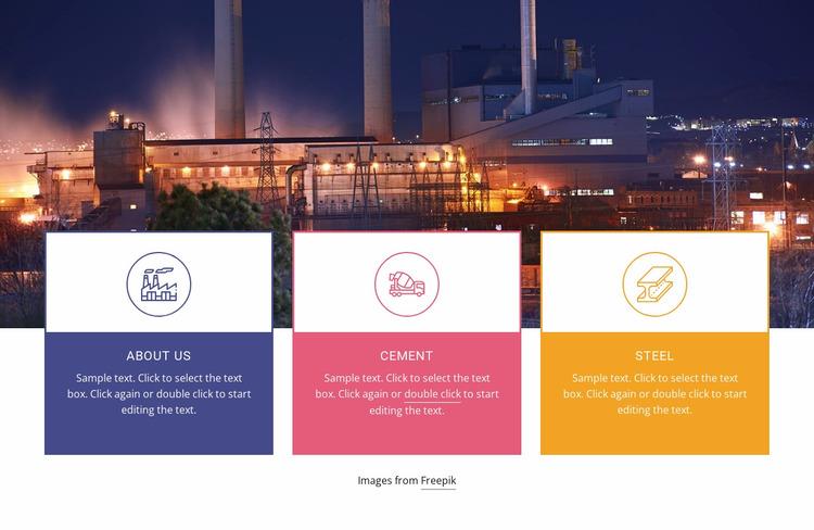 Heavy machinery industrial Website Mockup