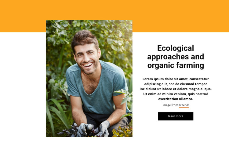 Integrated farming system HTML Template