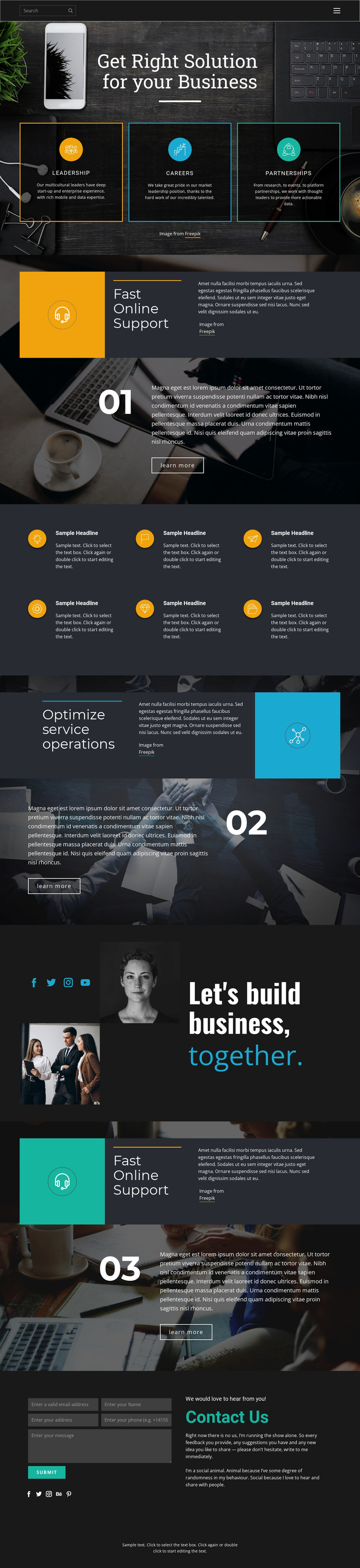 Right solutions for business Template