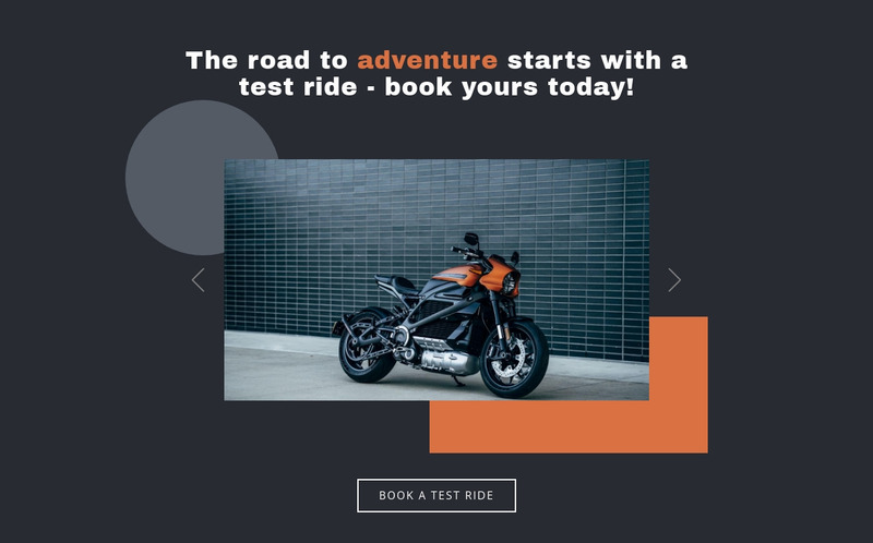 Motorcycles and cars Web Page Design