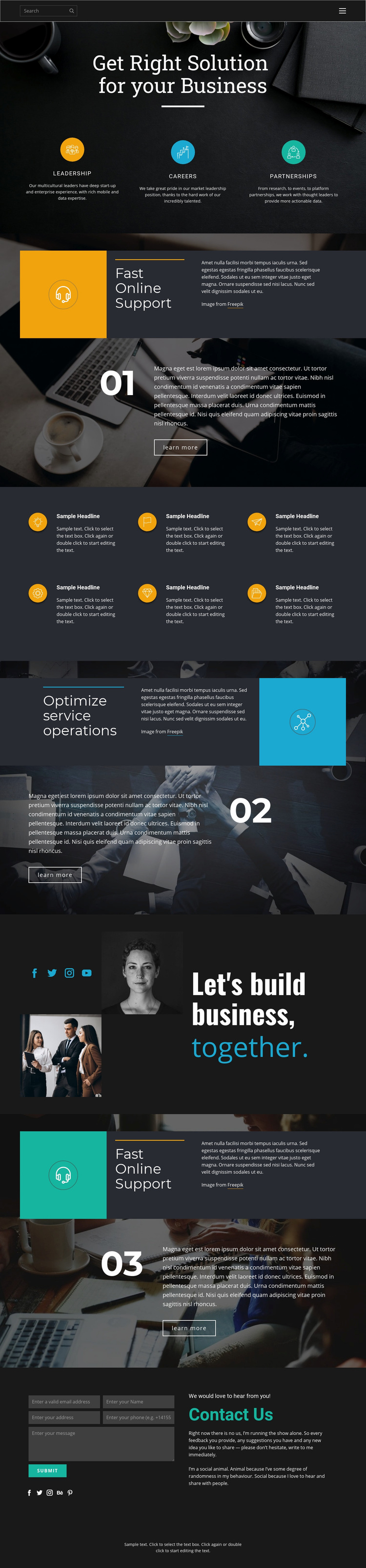 Right solutions for business Web Page Design