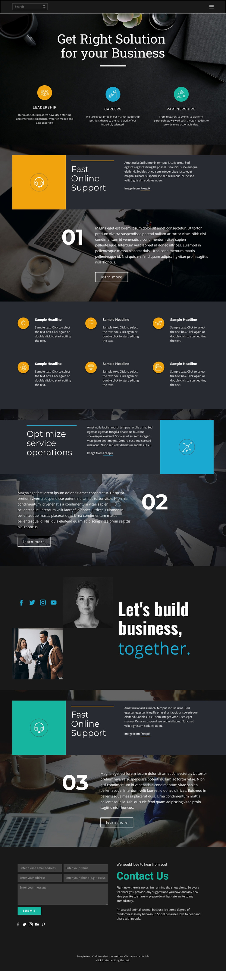 Right solutions for business Web Page Designer