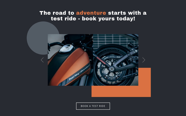 Motorcycles and cars Website Mockup