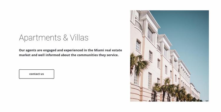 Apartments and villas  Website Mockup