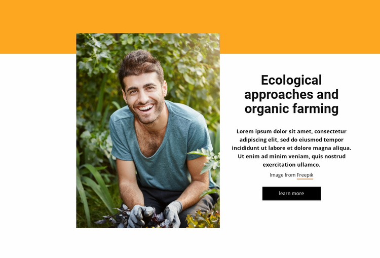 Integrated farming system Website Template