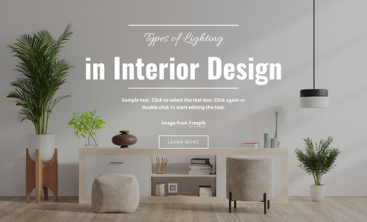 Designing with light Landing Page