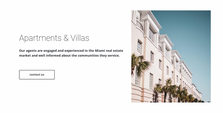Apartments and villas  Website Template