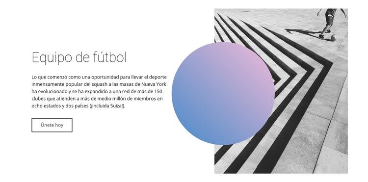 Estilo de equipo de fútbol Plantilla de sitio web