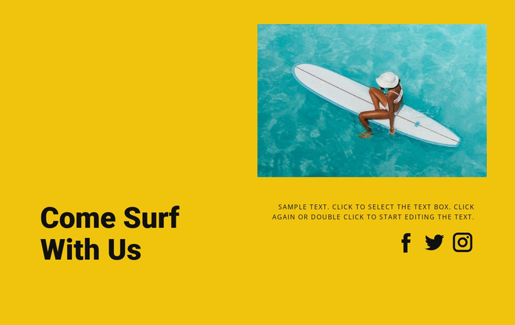 Come surf with us  HTML Template