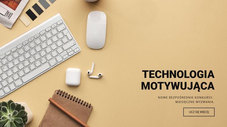 Motywująca technologia Szablon witryny sieci Web