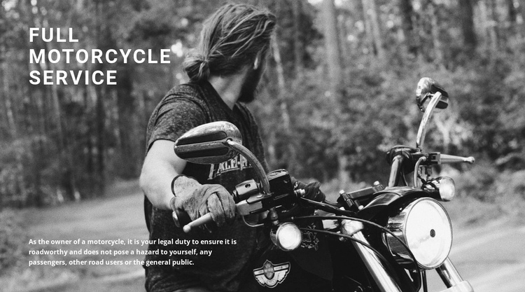 Service for your motorcycle Website Builder Software