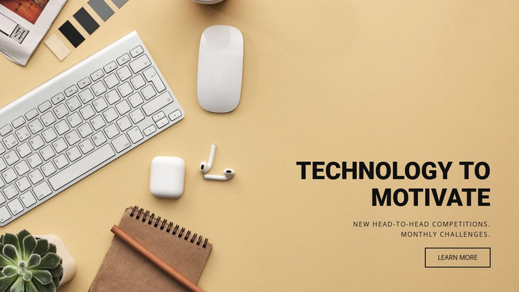 Motivating technology Website Mockup